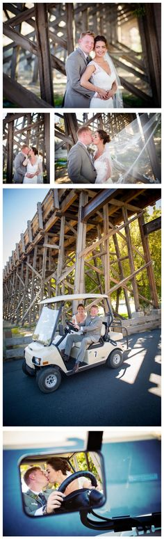 The benefit of getting married at a golf resort? Access to the golf carts! Brasada Ranch has everything to accommodate your perfect wedding.