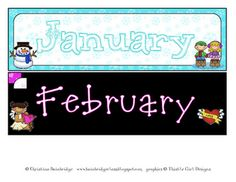MONTH HEADERS FREEBIE!