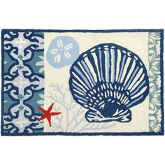 Homefires Italian Tile With Clam Shell Rug $43.00