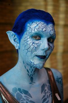 Really great looking makeup effect.