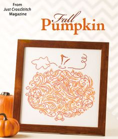 Fall Pumpkin from the Sep/Oct 2014 issue of Just CrossStitch Magazine. Order a digital copy here: http://www.anniescatalog.com/detail.html?code=AM53354