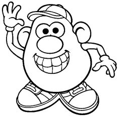 mr. potato head coloring page for introduction to the counselor lesson