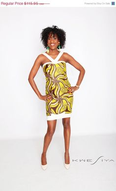 ON SALE KWESIYA Evening Dress Cross Back in Green by Kwesiya, $69.57