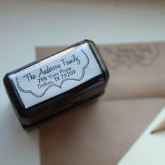 Personalized Self Inking Stamper from 2712 Designs - GREAT to mark your personal business items! I would use one of these to stamp paper bags for craft fairs, as well as packaging for items I ship out. This saves a lot of printer ink too