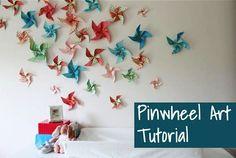 Pinwheels on the wall