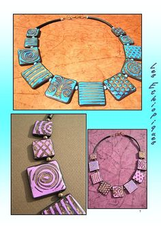 Necklace photo tute from Les Ethiopiques.  (French).  Other lovelies on this site.  #Polymer #Clay #Tutorials