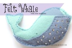 Small Things: Felt Whale {with free template} - would be cute for Jonah and the whale stories