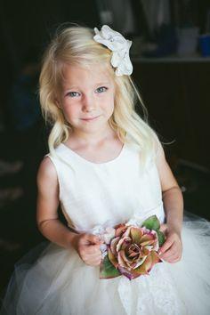 Adorable flower girl: http://www.stylemepretty.com/california-weddings/irvine/2014/11/05/classic-southern-california-wedding-at-strawberry-farms/ | Photography: Palos Studio - http://www.palosstudio.com/
