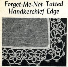 5805 Vintage Tatting PATTERN for Tatted For get me by BlondiesSpot, $1.99