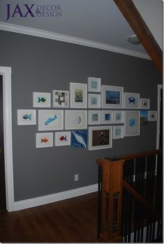 Gallery wall (wall colour is BM Chelsea gray)