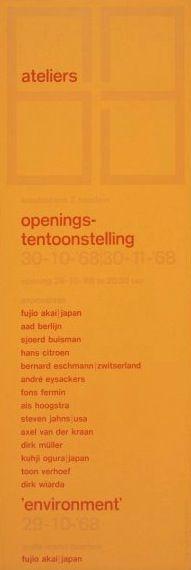 Ateliers 63 Ivent w-face Poster (back), Ateliers 63, Designed by Jolijn van de Wouw, Wim Crouwel and Pieter van Delft, 1968