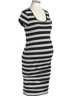 Maternity Side-Shirred Jersey Dresses   Old Navy