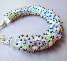 Ethiopian Welo Opal Cluster Bracelet by SurfAndSand on Etsy, $675.00