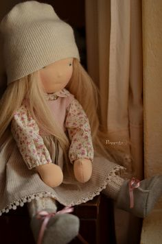 Olinka, 17 inch Puce Puppula doll by Puppula, via Flickr