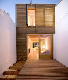 Casa Entre Mitgeres by DataAE The dwelling is organised around a courtyard-terrace in the centre of the plot to properly illuminate and ventilate the interior of the house.