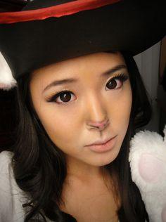 Halloween+Makeup | Halloween Makeup: Cat (Puss In Boots) Pink nose