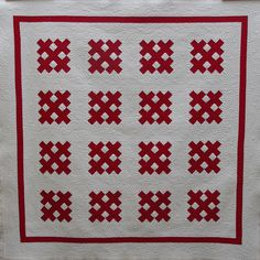 Red Cross Quilt by Q