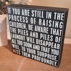 Laundry Room Sign Laundry and Children Painted by WordsofWisdomNH, $24.00 But with different font
