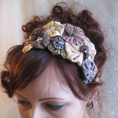 fabric yoyo headband, so adorable   # Pinterest++ for iPad #