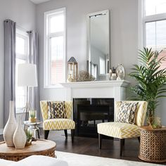 Brick Mantel Decorating Ideas by @west elm | http://bit.ly/manteltips