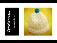 Gorro de Bebé - Fácil en telar redondo / circular - Loom Knit Baby Hat in Spanish - YouTube