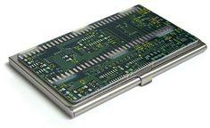 ThinkGeek :: Circuit Board Business Card Case