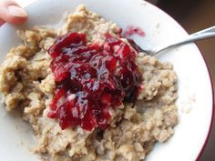 Use leftover cranberry sauce to liven up your oatmeal
