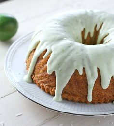 Coconut Lime Bundt Cake - FoodBabbles.com