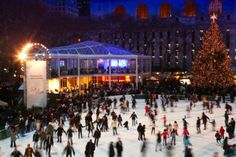 Bryant Park- Ice skating! http://renegadechicks.com/achieving-holiday-cheer-in-nyc-the-right-way/#