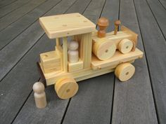 Handmade Wooden Flat Bed Truck with Doodle Dozer by KPTCO on Etsy, $40.00