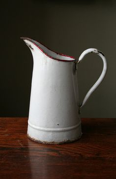day pitcher enamelware