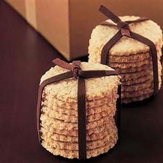 Oatcakes (to go with homemade chutney) oatcak, gift ideas, homemade food gifts, homemade foods, homemad foodi, hamper idea, biscuit, christma hamper, christmas gifts