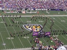 Baltimore Ravens Band formed the #52 in honor of Ray Lewis during today's halftime