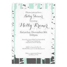 Aspen Trees Nature Baby Shower Invitations