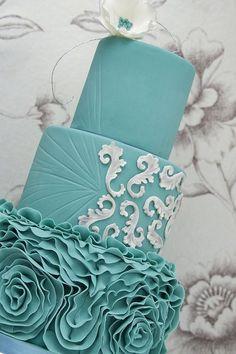 Aqua Blue Ruffles