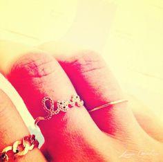 gold rings #love #chain #thinband