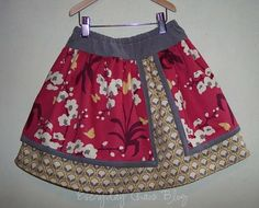 Everyday Chaos: Double layer skirt. Tutorial with DIY pattern - girls or womens size