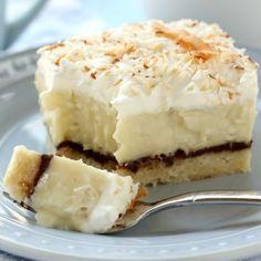 Chocolate & Coconut Cream Pie Bars