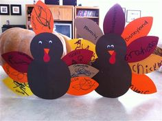 Family Night Activity- Thankful Turkeys Craft