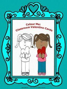 Colour Me: Classroom Valentine Cards $3 Kg-grade3