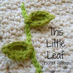 This Little Leaf ~ free pattern ♡ Teresa Restegui http://www.pinterest.com/teretegui/ ♡♡