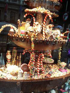 Beautiful candy shop display window