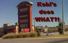 Kohl does what?? funni sign, funni stuff, laugh, giggl, hilari, random, humor, kohls, thing