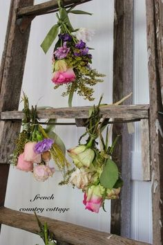 French Country Cottage - Super secret way of drying flowers ! So Easy And Beautiful !!