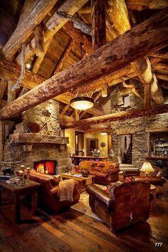 Amazing log cabin interior