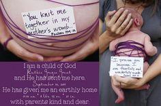 Birth announcement, maternity shot & newborn shot! Love the idea!
