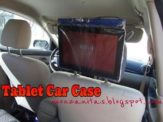 A diy tablet case for watching movies in the car