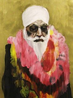 Fine Art print of Jatinder Singh Durhailay's oil on linen painting titled Puran