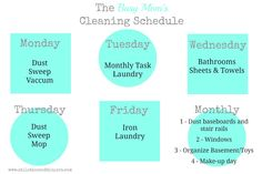 The Cleaning Schedule