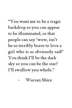 Warsan Shire - Wow poem